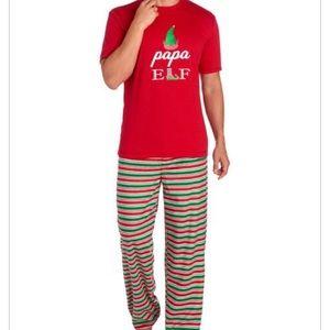 """KAREN NEUBURGER MEN'S """"Papa Elf"""" Striped PJ Set"""